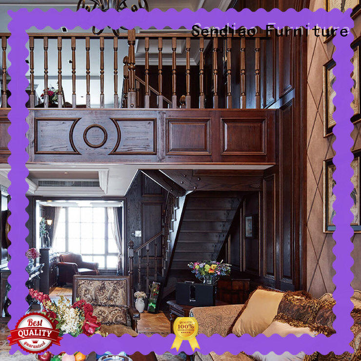 Sendiao Furniture classical bespoke staircases The latest generation Three-star Hotel