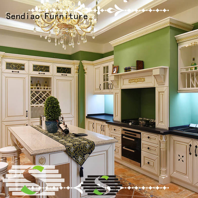 Top hardwood kitchen cabinets style factory exhibition hall