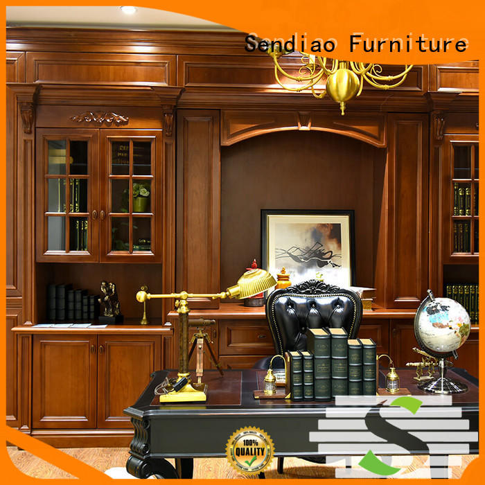 Sendiao Furniture cabinet wooden bookcase for business four-star hotel