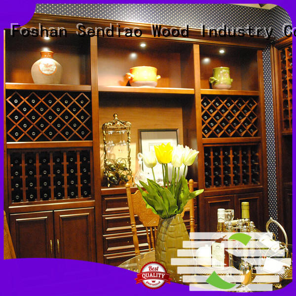 Sendiao Furniture wood bespoke wine cabinet for business four-star hotel