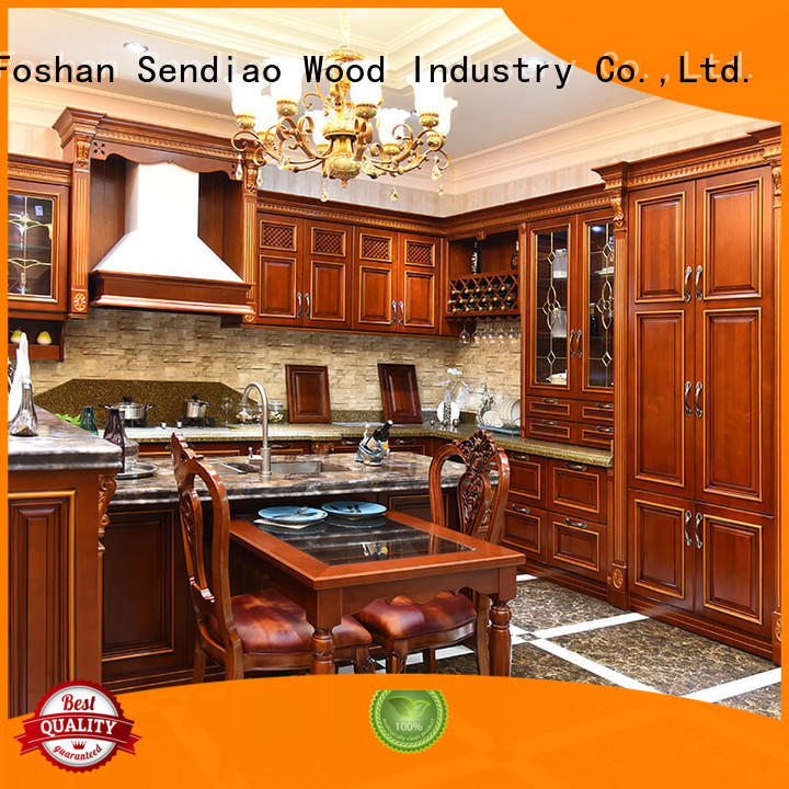Sendiao Furniture solid contemporary kitchen cabinets elegance A living room