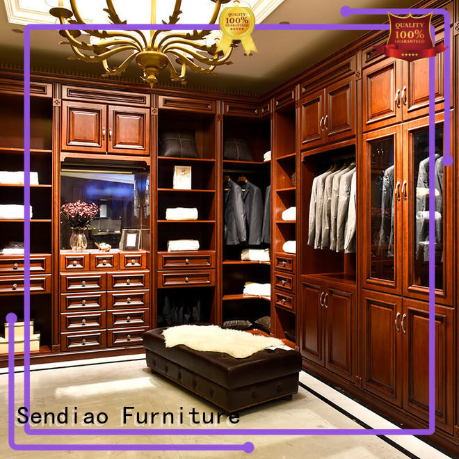 wood armoire wardrobe modular Exhibition hall Sendiao Furniture