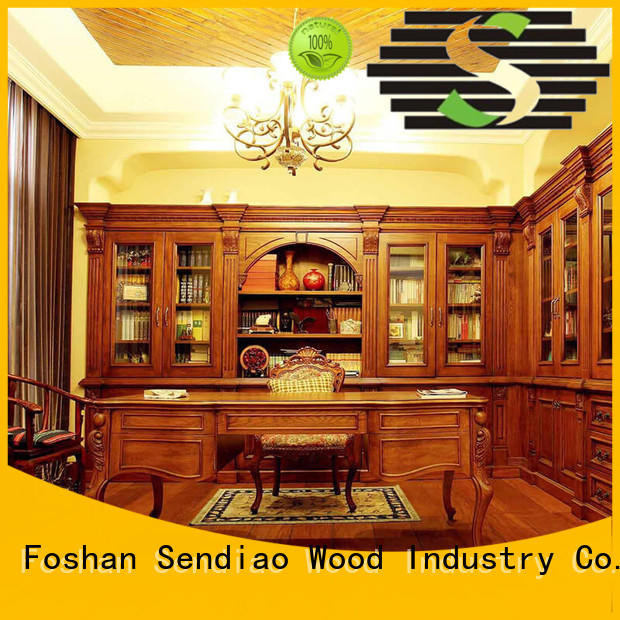 black bookcase deluxe study custom living room cabinets Sendiao Furniture Brand