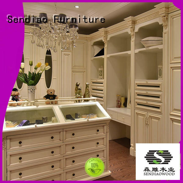Sendiao Furniture New products wooden clothes wardrobe syle Chateau