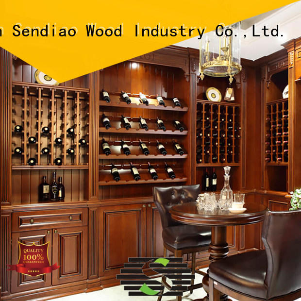 Sendiao Furniture New products solid wood wine cabinet supply fivestar hotel