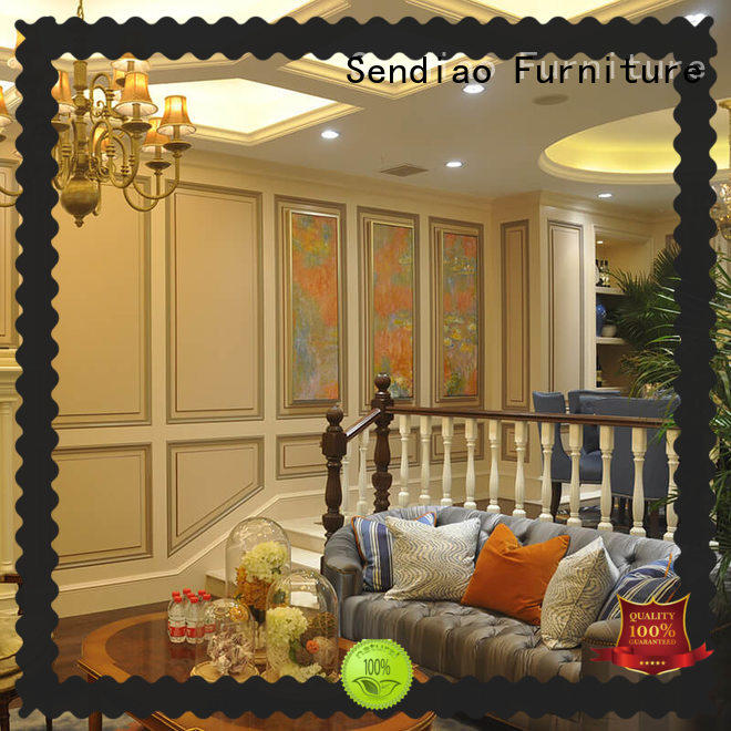 Sendiao Furniture Promotion modern wood stairs modular Four Star Hotel