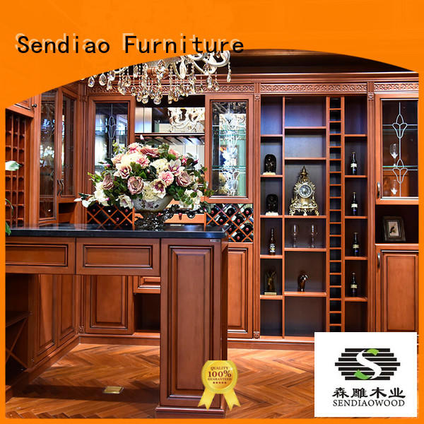 sdwi01 solid wood wine cabinet classical Four Star Hotel