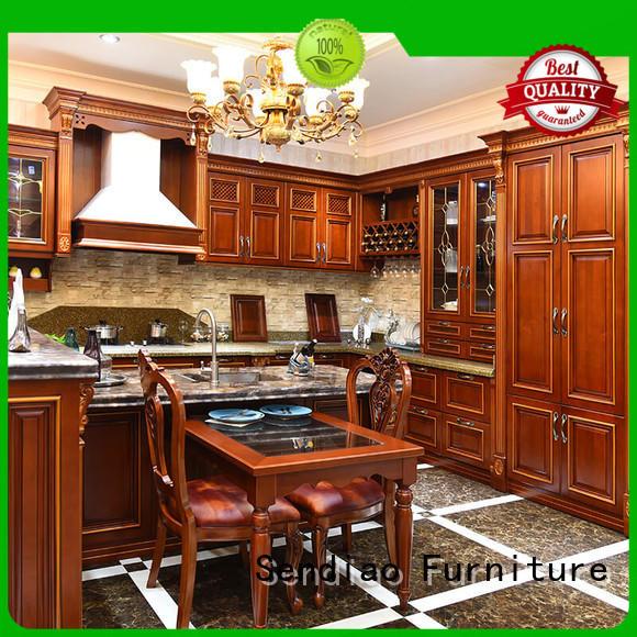 modular wooden luxury freedom Sendiao Furniture Brand bespoke kitchen cupboards supplier