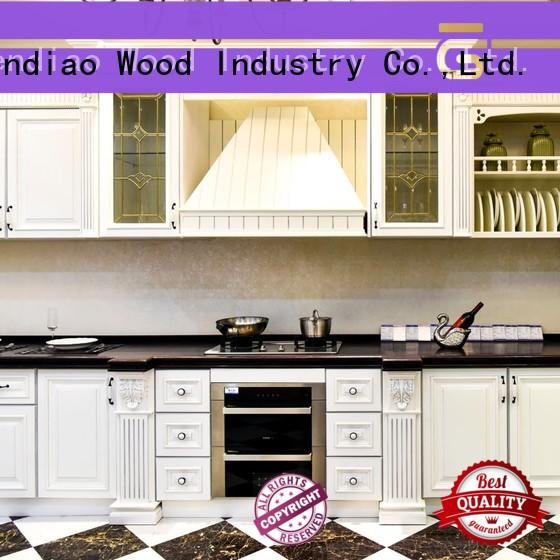 solid wood kitchen cabinets sdk07 Three-star Hotel Sendiao Furniture