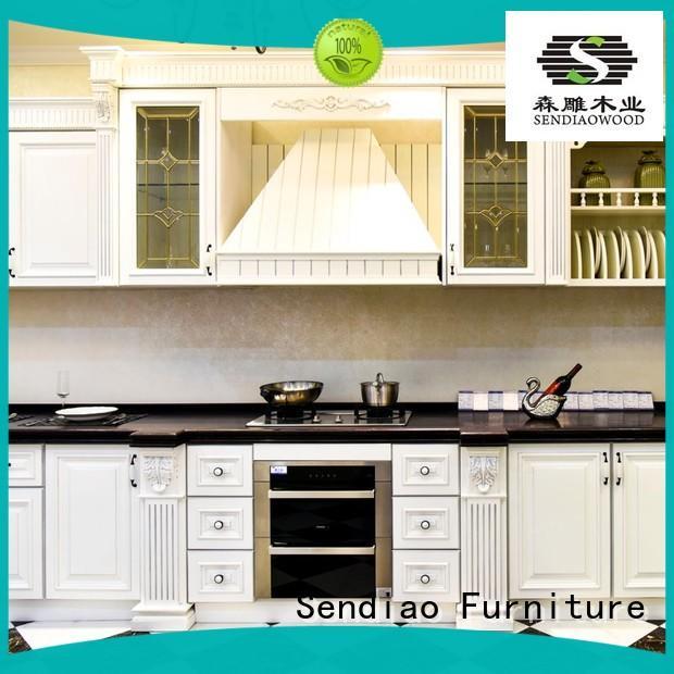 Sendiao Furniture Brand solid modular cherry kitchen cabinets