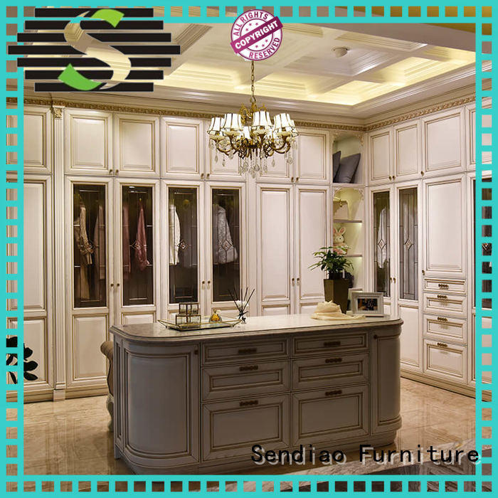 The latest generation wood armoire closet American style Fivestar Hotel Sendiao Furniture