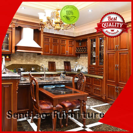 solid wood kitchen cupboards white Fivestar Hotel Sendiao Furniture