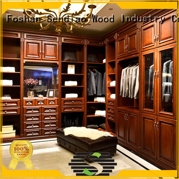 Sendiao Furniture modular solid wood wardrobes for business chateau