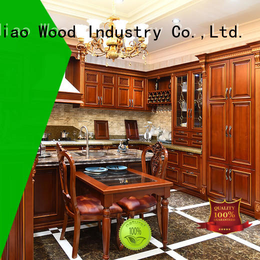 sdk07 hardwood kitchen cabinets lacquer Exhibition hall Sendiao Furniture