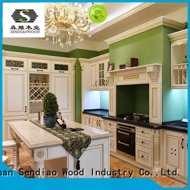 low price custom kitchen cabinet manufacturers classical Chateau
