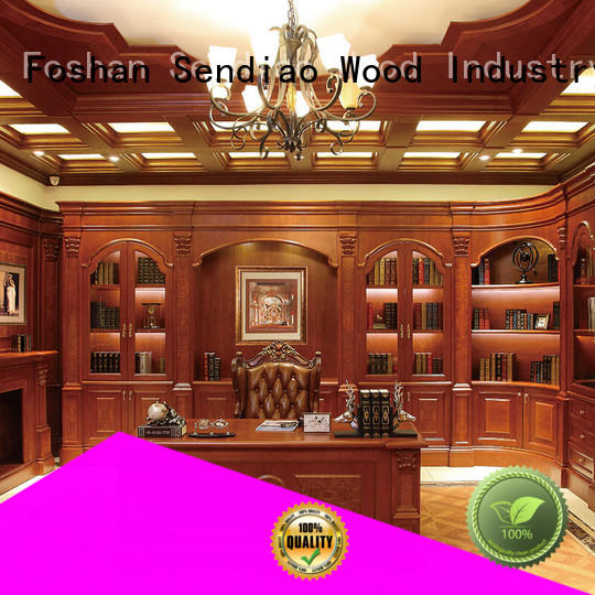 Sendiao Furniture Top wooden bookcase company four-star hotel