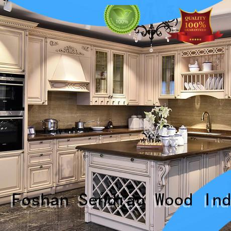 style artificial bespoke kitchen cupboards modern Sendiao Furniture Brand company