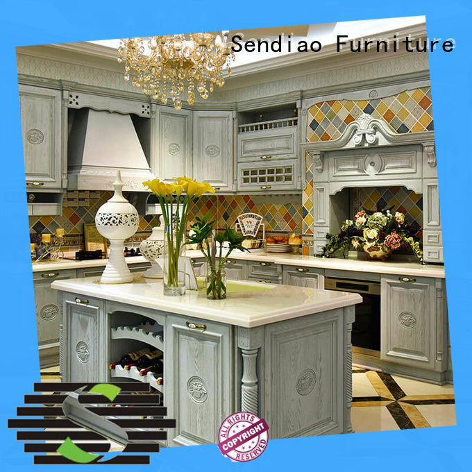 Sendiao Furniture fashion wooden kitchen cupboards Supply chateau