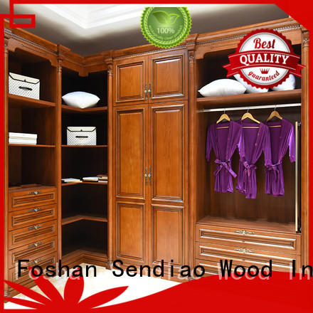 Simplicity wood armoire wardrobe New products Exhibition hall