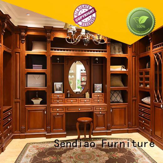 Sendiao Furniture bedroom wooden wardrobe closet suppliers fivestar hotel