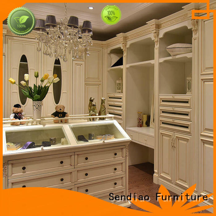 Promotion solid wood wardrobes modular factory chateau