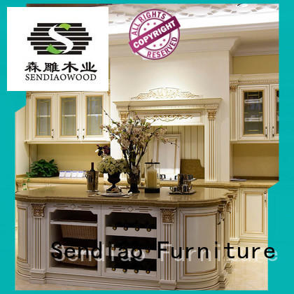 Sendiao Furniture low price luxury kitchen cabinets sdk08 Bedroom