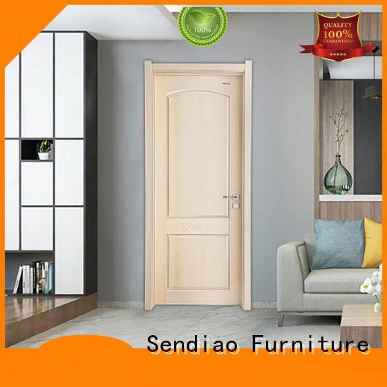 solid wood interior doors sdr06 A living room Sendiao Furniture