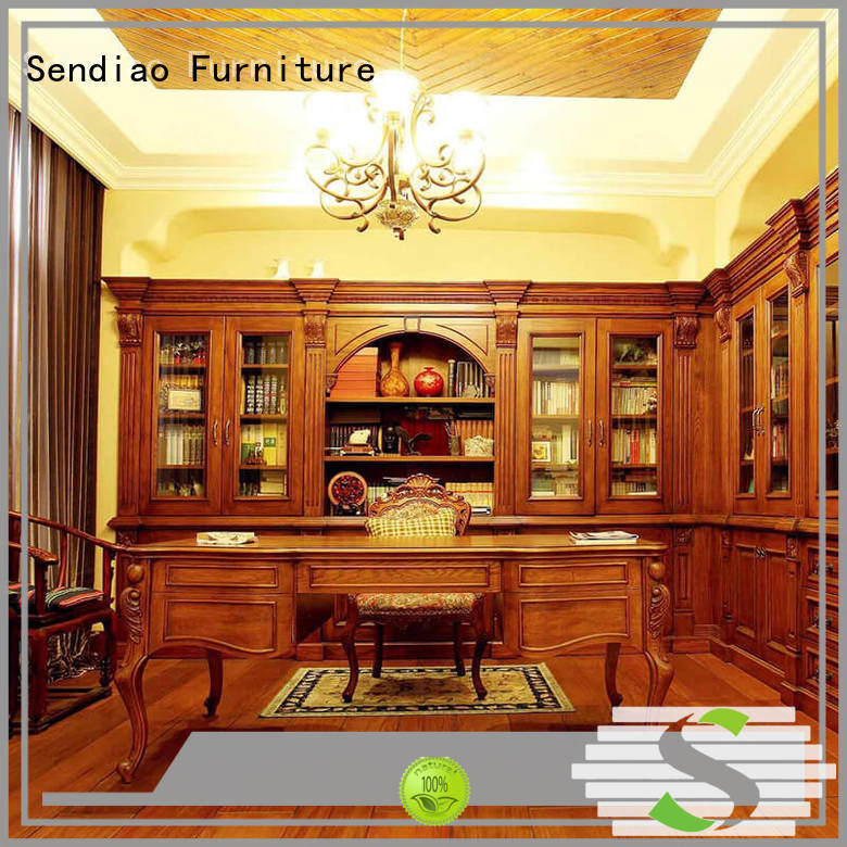 Wholesale wooden bookcase advanced company exhibition hall