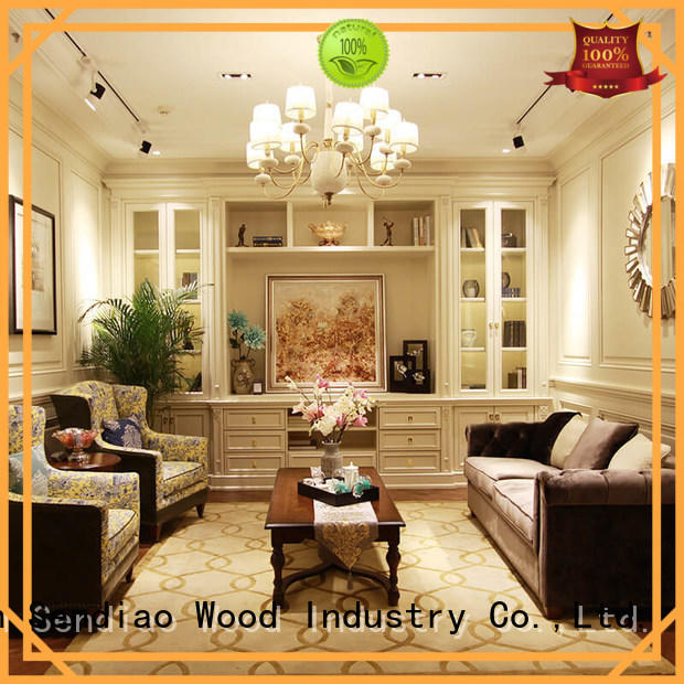 complete wood storage cabinet with drawers The latest generation Exhibition hall Sendiao Furniture