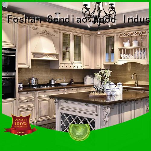 Sendiao Furniture furniture oak kitchen cabinets The latest generation A living room