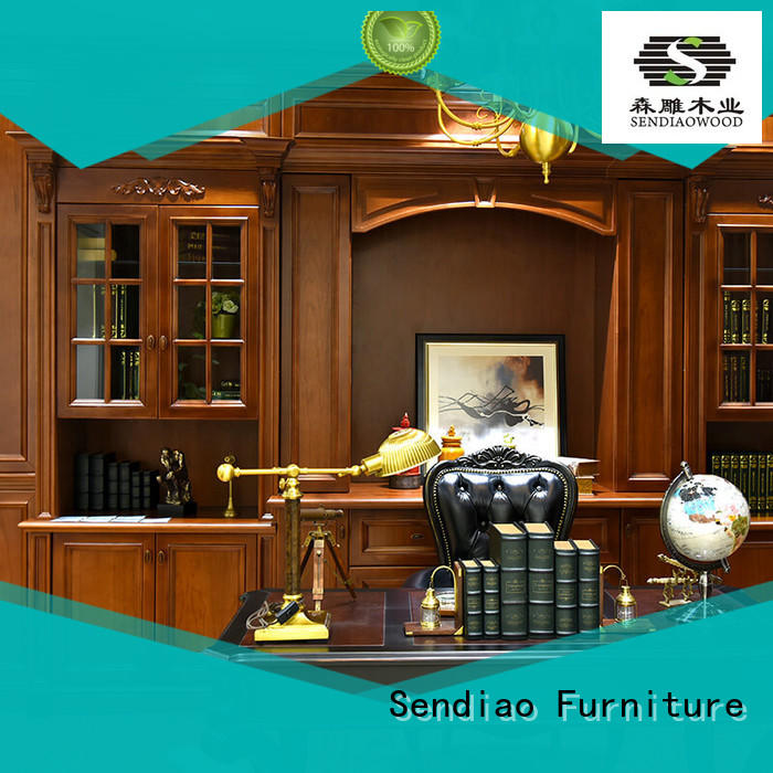 combination wooden bookcase Simplicity A living room Sendiao Furniture