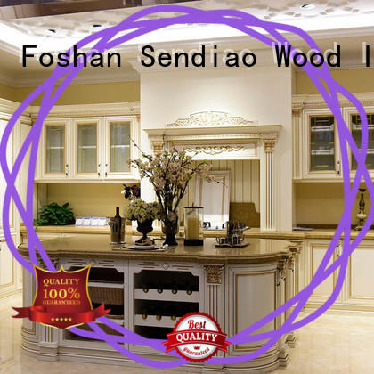 Sendiao Furniture sdk03 solid wood kitchen cupboards Suppliers exhibition hall