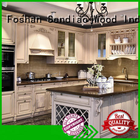 Sendiao Furniture classical laminate kitchen cabinets wooden Exhibition hall
