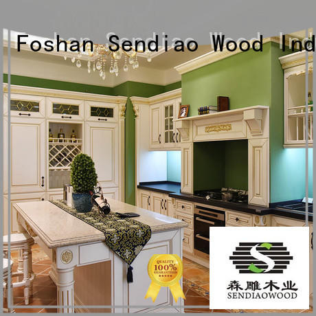 Sendiao Furniture American style laminate kitchen cabinets New products Fivestar Hotel