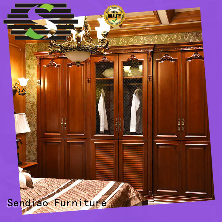 American style wood armoire wardrobe wood factory four-star hotel