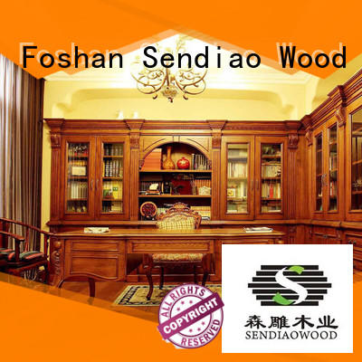 study handcarved custom living room cabinets cabinet Sendiao Furniture
