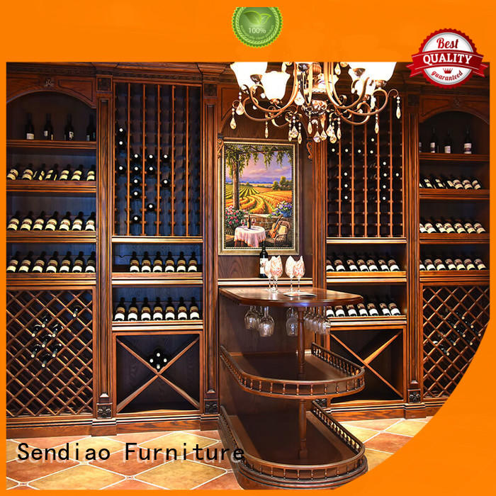 Sendiao Furniture oak wooden wine cabinets furniture American style Study