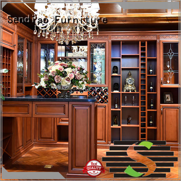 Sendiao Furniture classical solid wood wine cabinet manufacturers study
