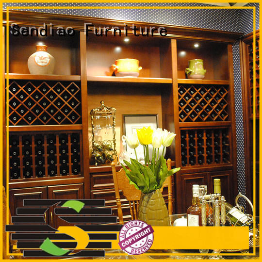 classical wood wine cabinet American style Study