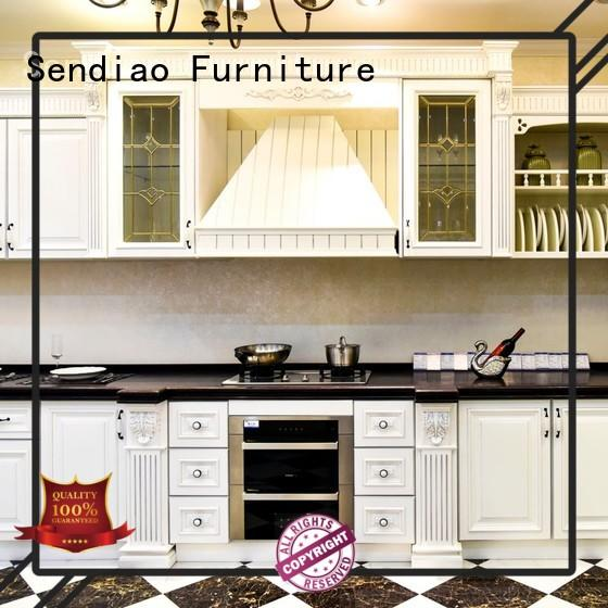 custom wood kitchen cabinets quartz Study Sendiao Furniture