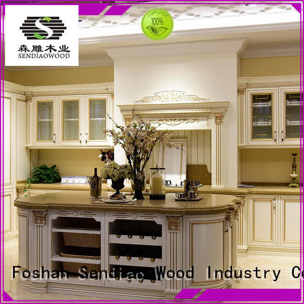 Sendiao Furniture American style wood kitchen cabinets American style Three-star Hotel