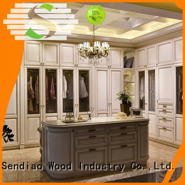 Sendiao Furniture low price wood wardrobe cabinet for business bedroom