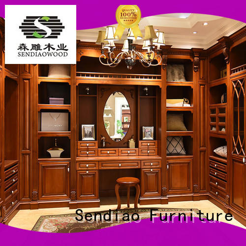 Sendiao Furniture modular wood armoire wardrobe Promotion Three-star Hotel