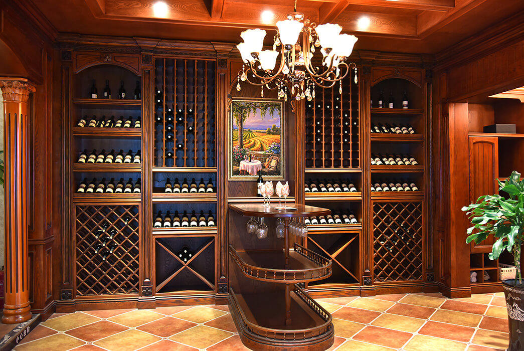 Top bespoke wine cabinet red factory three-star hotel-2