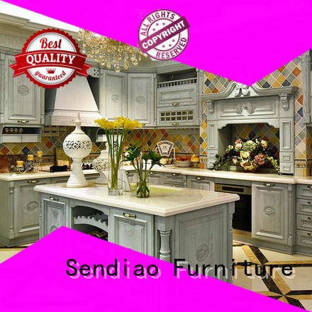 Sendiao Furniture french real wood kitchen cabinets The latest generation Chateau