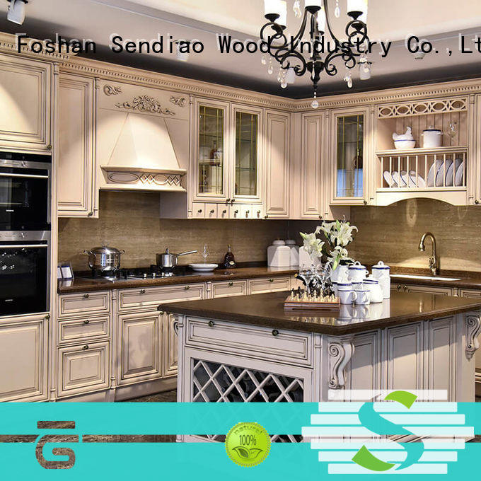 High-quality wooden kitchen cupboards wood Suppliers four-star hotel