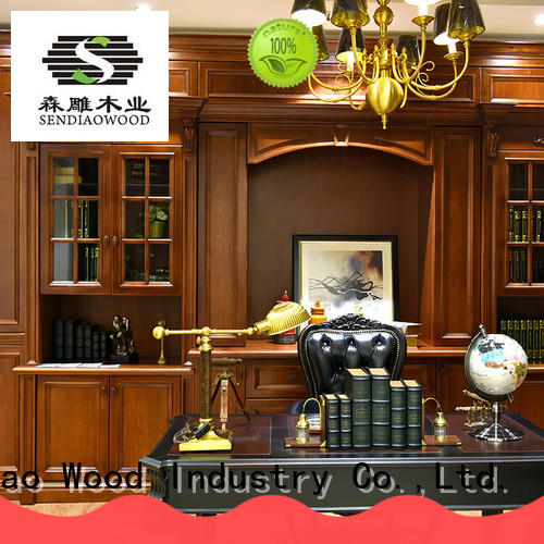 Sendiao Furniture New products solid wood bookcases three Exhibition hall