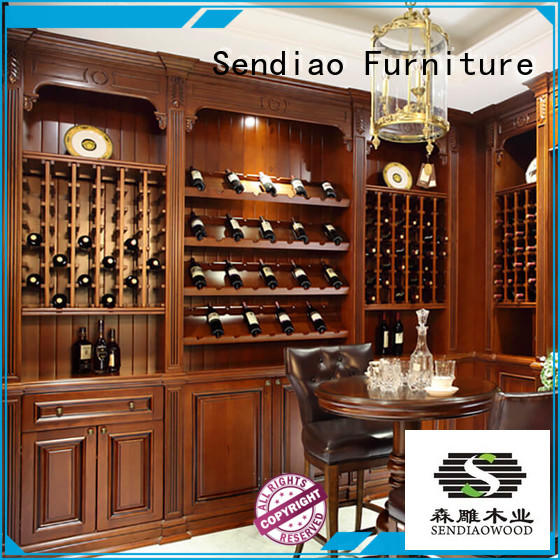 The latest generation wood wine cabinet Simplicity Fivestar Hotel