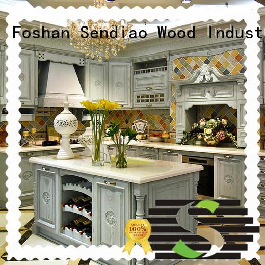 sdk06 solid wood kitchen cabinets sdk01 Exhibition hall Sendiao Furniture