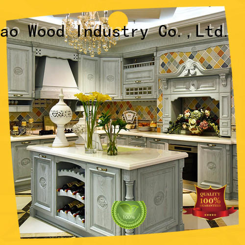 style custom kitchen cabinet manufacturers wood Four Star Hotel Sendiao Furniture